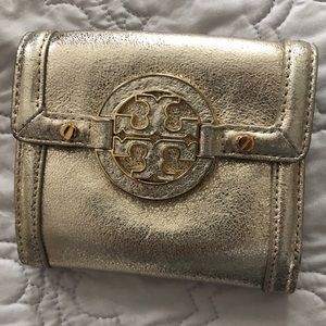 Tory Burch Gold wallet